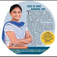 Lasya K Elzibeth from Tirupati