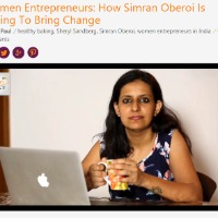 Simran Oberoi from Bangalore