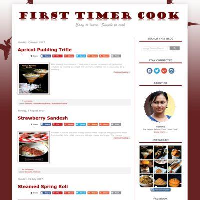 First Timer Cook