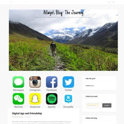 Allwyn's Blog- The Journey