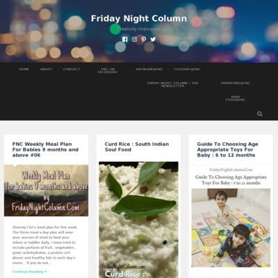 Friday Night Column