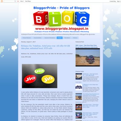 BloggerPride - Pride of Bloggers !