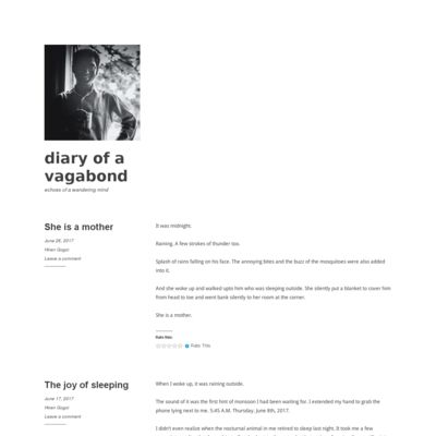 diary of a vagabond