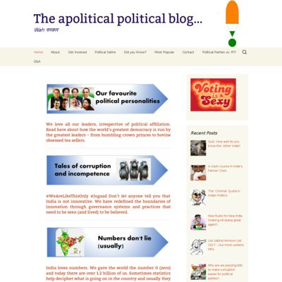 The apolitical political blog…