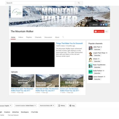 The Mountain Walker YouTube Channel