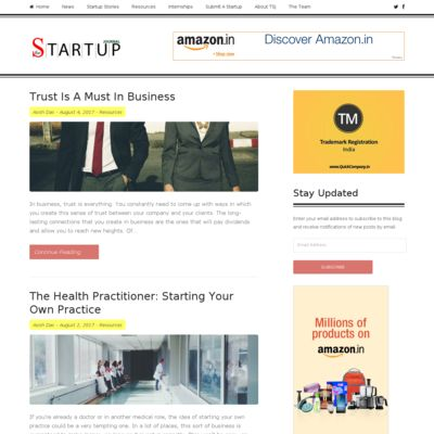 The Startup Journal - Indian Startup Stories, Startup News, Startup Resources, Interviews