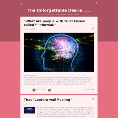 The Unforgettable Desire