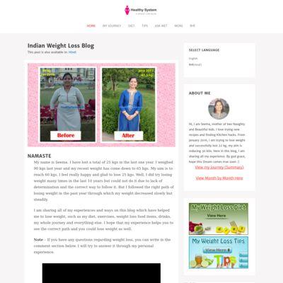 My Weight Loss Blog