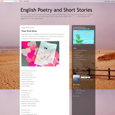 English Poetry and Short Stories