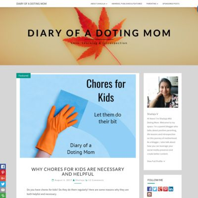 Diary of a Doting Mom