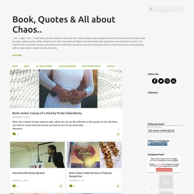 Books, quotes& chaos