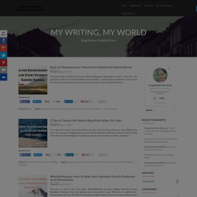My Writing & My World