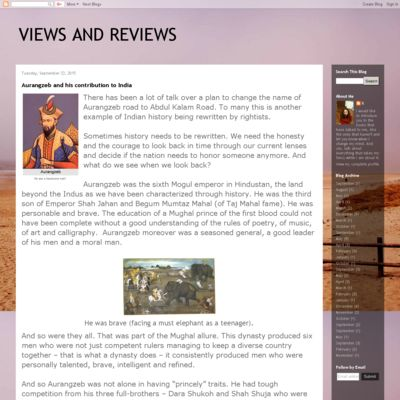 VIEWS AND REVIEWS