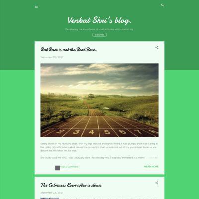 Venkat Shri's blog