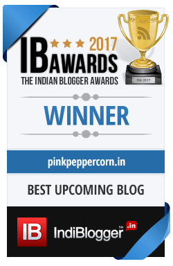 Winner of The Indian Blogger Awards 2017 - Special Awards