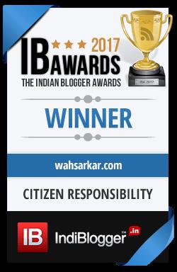 Winner of The Indian Blogger Awards 2017 - Society, Good Living & India
