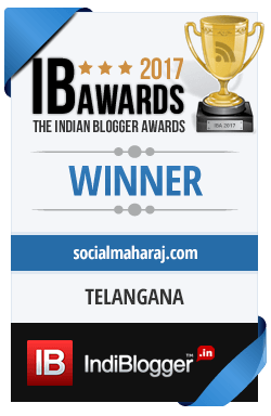 Winner of The Indian Blogger Awards 2017 - Regions